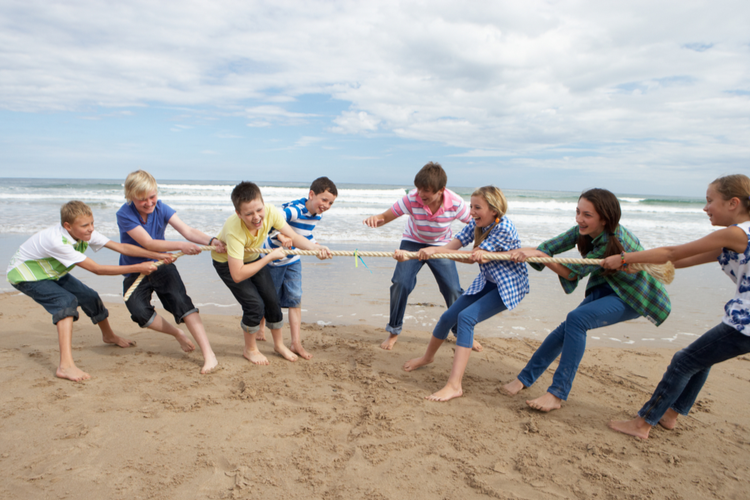 Best Make-Shift Beach Games for the Family